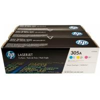 HP 305A CMY 3-pack LJ Toner Cart, 3 x 2600 str. (CE411A/CE412A/CE413A), CF370AM