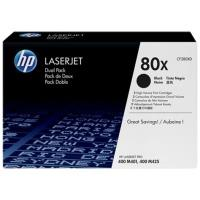 HP CF280X Black Dual Pack LJ Toner Cartridge CF280XD