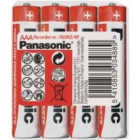 Panasonic R03 4S AAA Red