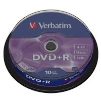 Verbatim DVD+R 4,7GB 16x, 10ks