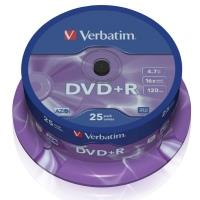 Verbatim DVD+R 4,7GB 16x, 25ks