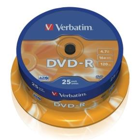 Verbatim DVD-R 4,7GB 16x, 25ks