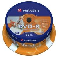 Verbatim DVD-R 4,7GB 16x Printable, 25ks