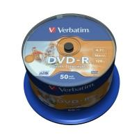 Verbatim DVD-R 4,7GB 16x Printable, 50ks