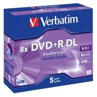 Verbatim DVD+R 8,5GB 8x DoubleLayer, 5ks